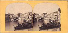 Originale Photo 19ème Stereo Italie Italia Italy Venise Venezia Venice Rialto