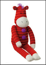 "Monkeez ""Zippy"" Zebra Sock Plush Toy"