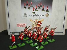 Britains 5802 York + LANCASTER gestire REGGIMENTO METAL Toy Soldier Figure Set