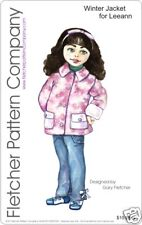 """Winter Jacket Doll Clothes Sewing Pattern for 11"""" Leeann"""