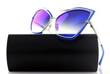 RARE New Authentic DITA CREATURE Cat Eye Electric Blue Silver Sunglasses 22035-C
