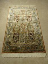 Exotic 100% Silk Kashmir Oriental Rug,Hand Knotted,Traditional, 576 KPSI 3'x5'