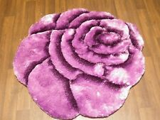 Area Rug Home 3D Rose Design Sparkle Living Room Bedroom Floor Mat  Nice purple