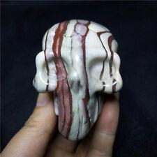 Rare!!! 340g Natural Qianceng stone Crystal carving skull Healing #2