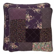 Kissenbezug JANA 50x50 Lila Rosa Patchwork Landhaus