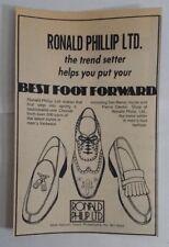 1976 Ronald Phillip Ltd. Shoes Advertisement Philadelphia, PA