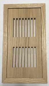 "Solid Red Oak Floor Vent Register (Unfinished) with frame (4"" x 10"")"