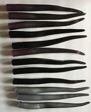 """Al Gags 8""""  Whip It Eel (6) Black Shad or Black Purple"""