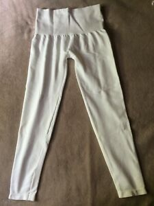 SPANX size L White Seamless Cotton Leggings All Day Shaping  Style 5D142 NWT