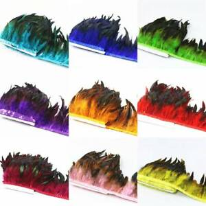 Multicolor Chicken Rooster Tail Feather for Dress Skirt DIY Craft Feather Trims[