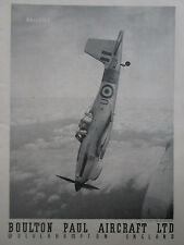 9/1953 PUB BOULTON PAUL AIRCRAFT BALLIOL RAF BASIC TRAINER AVION ORIGINAL AD