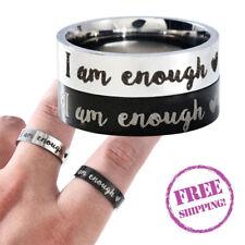 I AM ENOUGH Awareness Depression Women Ring Mental Self Inspirational Rings Gift