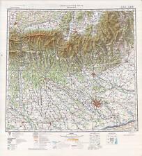 Russian Soviet Military Topographic Maps - BUCHAREST (Romania), 1:500K ed. 1978