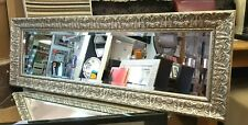 John Lewis Constantina Ornate Wall Mirror Gilt French Champagne Silver 133x56cm