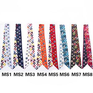AMIGO Twilly Multi-Use Silk Scarf Wrist Head Band Bag Ribbon Bow Tie Wrap JJMS