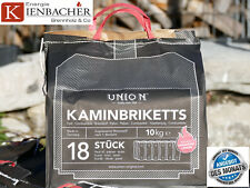 "10 kg Bag UNION das Braunkohlebriketts BRIX ""ToGo"" TOP Gluthalter & Kohlebrikett"
