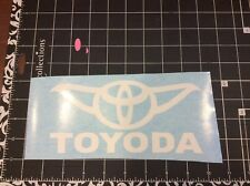 toyoda toyota yoda MR2 Celica Tacoma truck , Car, laptop window sticker decal