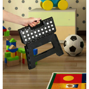 Folding Step Stool Plastic Kids Elderly Collapsible Foot Stool for Outdoor