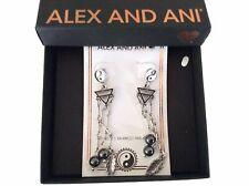 Alex and Ani Yin Yang Chandelier Earrings Rafaelian Silver NWTBC