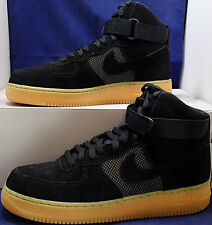quality design 996bd b903b Nike Air Force 1 Haut 07 LV8 Noir Gomme Marron Clair Sz 10 (806403-