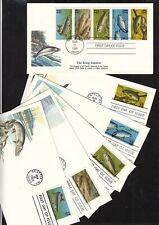 1986 Fish 5 different Sc 2209a booklet, set of 6, Fleetwood