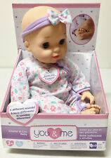 You And Me Chatter & Coo Baby Doll 14in Brand New In Box Ages 2+ NWT