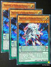 Set 3X DRAGODIES IL GUERRIERO POTENZIATO Empowered Warrior TDIL-IT093 YUGIOH