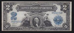 US 1899 $2 M&A Silver Certificate Napier/Thompson FR 254 VF (150)