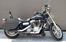 Saddleline Harley Davidson Dyna superglide FXDC leather saddlebag LOCKING PAIR.