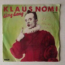 DISQUE 45T KLAUS NOMI DING DONG
