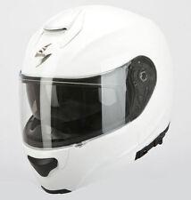 Casques blancs brillants Scorpion moto pour véhicule