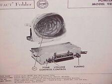 1955 PONTIAC CHIEFTAIN STAR CHIEF CATALINA CONVERTIBLE AM RADIO SERVICE MANUAL