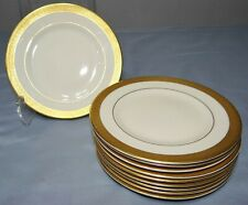 "Set of 10 Syracuse Old Ivory BRACELET 6 1/4"" Bread Butter Plates Thick Gold Band"