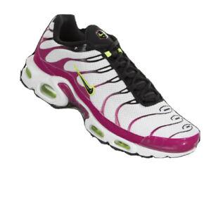 🔥Air Max Plus White/ Black-Rush Pink (CJ9929-100) Mens Size 11.5 Shoes New