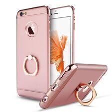 coque housse lux iPhone 7 en plastic/aluminium or rose avec anneau intégré