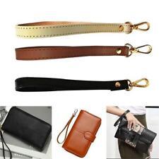 Black Leather Wristlet Wrist Bag Strap Replacement For Purse Handbag