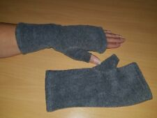 Fleece-Armstulpen -Pulswärmer mit Daumen grau  by Zonel Mode