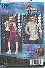 S 2869 sewing pattern Hannah Montana DRESS JUMPER JACKET BELT sew Disney COSTUME