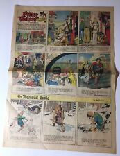 "1944 Prince Valiant by Harold Foster FULL PAGE comic strip COLORFUL 21x15.5"" DD"