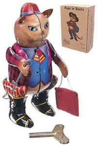 Puss in Boots Wind Up Tin Toy Walking Cat