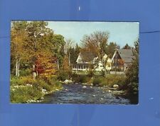 GALE RIVER FROM MAIN STREET FRANCONIA NH RUDY'S WHOLESALE DISTRIBUTORS POSTCARD