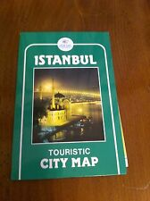 Vintage Tur-Yay Turkey Turkish Map Touristic City Istanbul Tour Restaurants Food