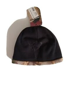 NWT Bear Tooth Realtree Reversibe YOUTH Black Fleece CAMO Beanie Cap HAT HUNTING