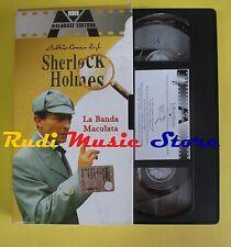 film VHS cartonata SHERLOCK HOLMES La banda maculata 2002 MALAVASI (F37) no dvd