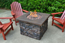 OUTDOOR PROPANE GAS FIRE PIT FIREPLACE HEATER  BACK YARD PATIO TABLE FURNITURE
