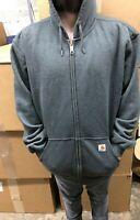 Carhartt Full Zip Original Fit Hoodie Mens Size XL Gray