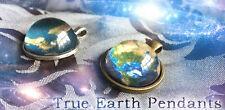 Flat Earth Necklace! Custom Made BRONZE tone Space Truth Sci-fi Xfiles Aliens