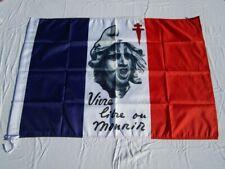 Drapeau VIVRE LIBRE OU MOURIR Résistance France 60 x 90 cm Flag Banner 2 x 3