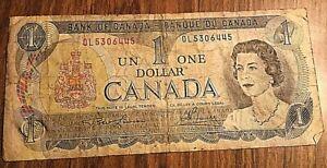 1973 CANADA 1 DOLLAR BANK NOTE 1$