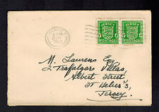 1942 Jersey Channel Islands Occupation Cover England Local Use to St Heliers